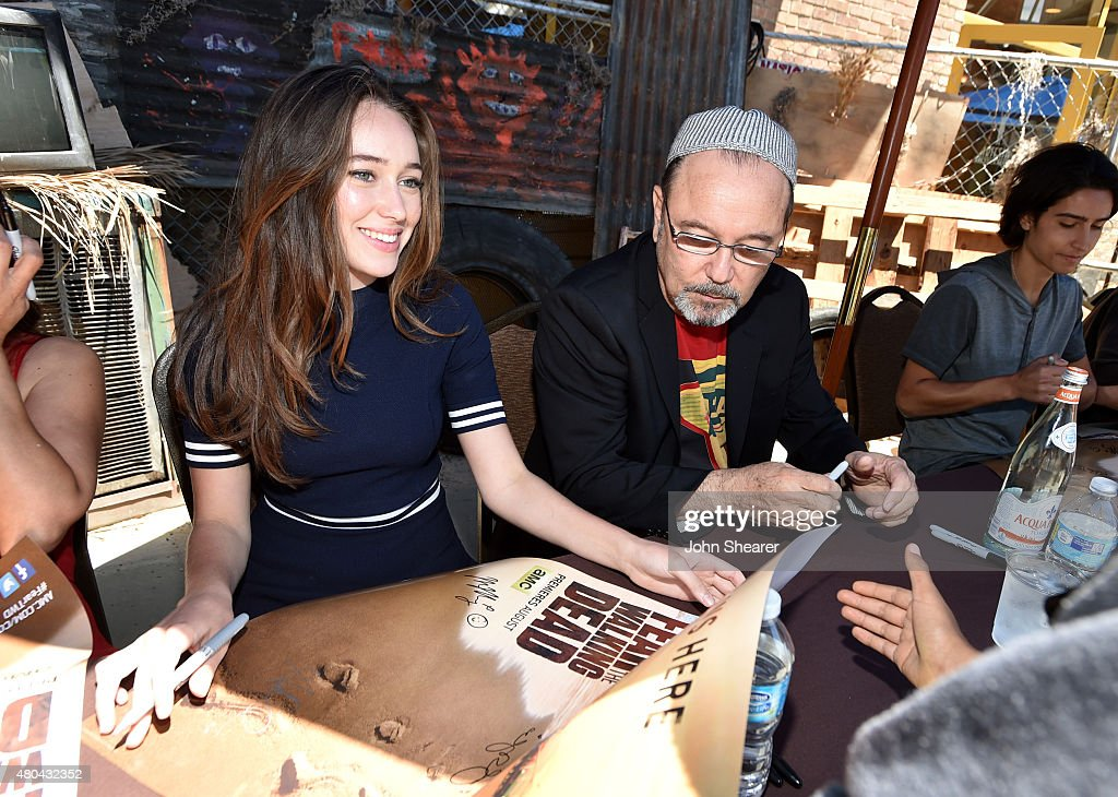 Actors Alycia Debnam-Carey (L), Ruben Blades and Lorenzo James Henrie attend AMC's 'Fear The Walking Dead' during Comic-Con International 2015 at the Hilton Bayfront on July 11, 2015 in San Diego, California.