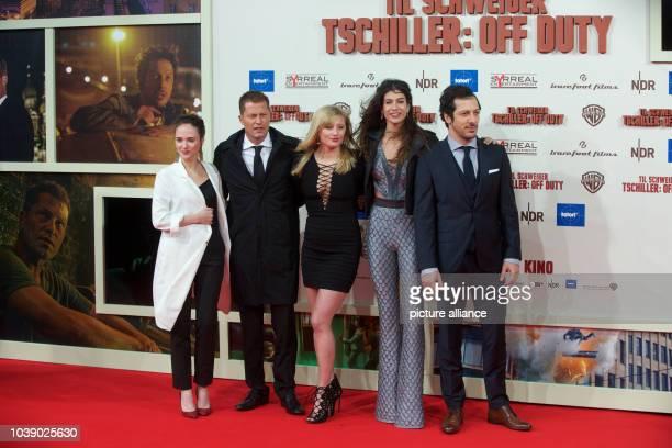 Actors Alyona Konstantinova Til Schweiger Luna Schweiger Berrak Tuzunatac and Fahri Yardim arrive to the world premiere of the movie 'Tschiller Off...
