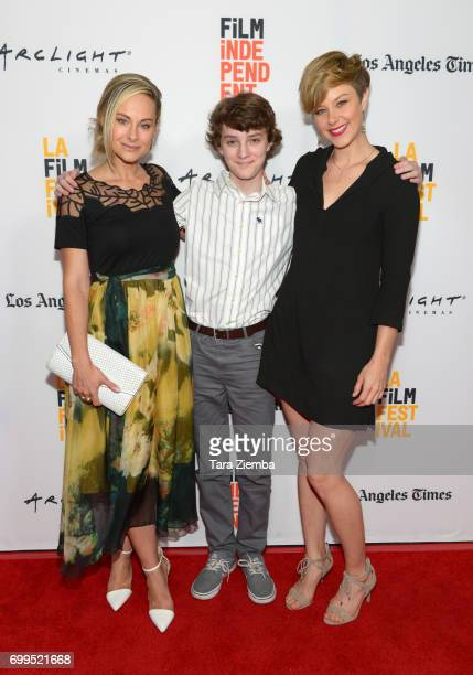 """Actors Alyshia Ochse, Toby Nichols and Jaimi Paige attend the screening of """"Desolation"""" during the 2017 Los Angeles Film Festival at Arclight Cinemas..."""