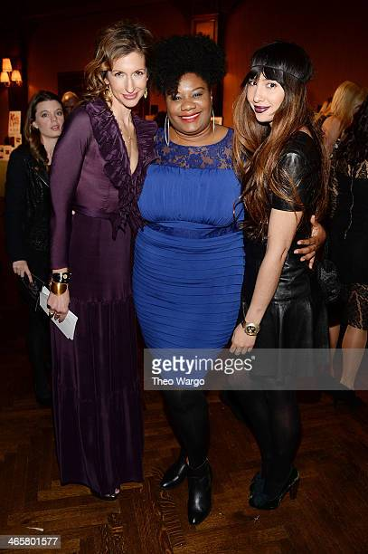 Actors Alysia Reiner Adrienne Moore and Jackie Cruz attend the 5th annual Inspire gala hosted by Bent On Learning on January 29 2014 in New York City