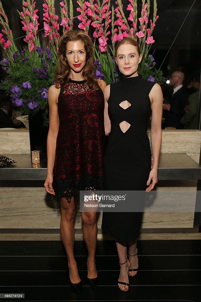 Actors Alysia Reiner and Christiane Seidel attend the Montblanc & The Cinema Society screening of Roadside Attractions & Lionsgate's 'Miss You Already' after party at The Rainbow Room on October 25, 2015 in New York City.