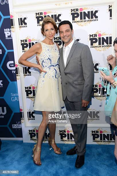 Actors Alysia Reiner and David Alan Basche attend the 2014 Young Hollywood Awards brought to you by Mr Pink held at The Wiltern on July 27 2014 in...