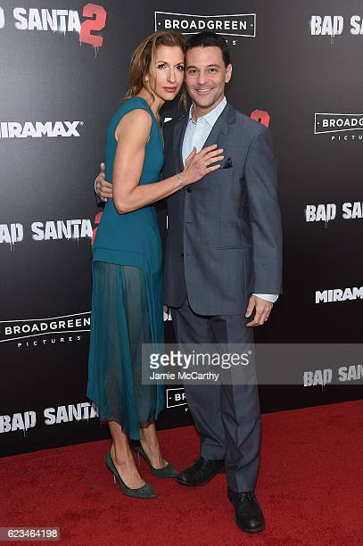 Actors Alysia Reiner and David Alan Basche attend the 'Bad Santa 2' New York Premiere at AMC Loews Lincoln Square 13 theater on November 15 2016 in...