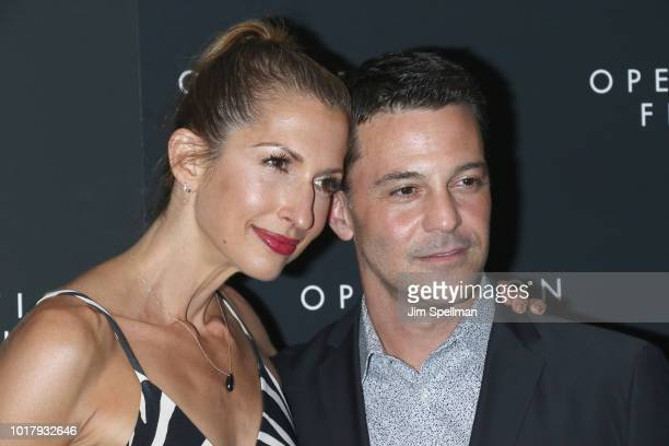 Actors Alysia Reiner and David Alan Basche attend the 'Operation Finale' New York premiere at Walter Reade Theater on August 16 2018 in New York City