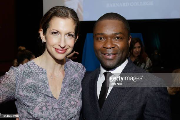 Actors Alysia Reiner and David Oyelowo attend the 2017 Athena Film Festival Awards Ceremony at Barnard College on February 10 2017 in New York City