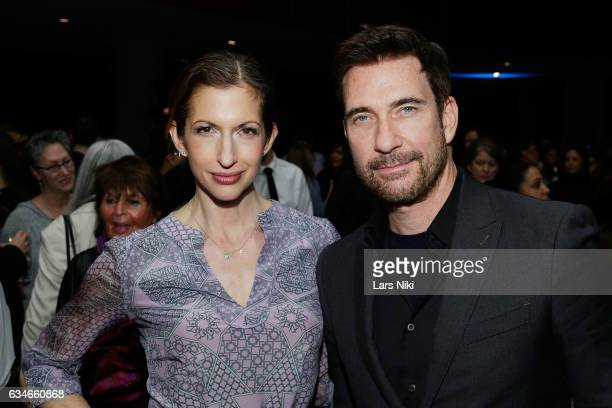 Actors Alysia Reiner and Dylan McDermott attend the 2017 Athena Film Festival Awards Ceremony at Barnard College on February 10 2017 in New York City