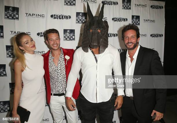 Actors Alyssa Julya Smith Nick Roux Jason Scott Jenkins and producer Tommy Alastra attend the Los Angeles Premiere of 'Jackals' on August 29 2017 in...