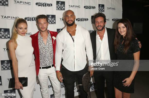 Actors Alyssa Julya Smith Nick Roux Jason Scott Jenkins producer Tommy Alastra and actress Chelsea Ricketts attend the Los Angeles Premiere of...