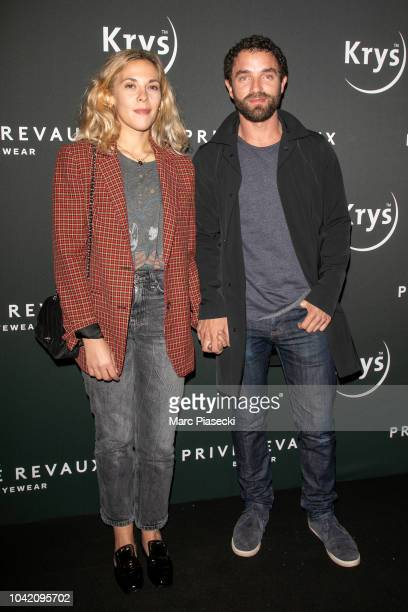 Actors Alysson Paradis and Guillaume Gouix attend the Prive Revaux Eyewear Photocall at Cafe de l'Homme as part of the Paris Fashion Week Womenswear...