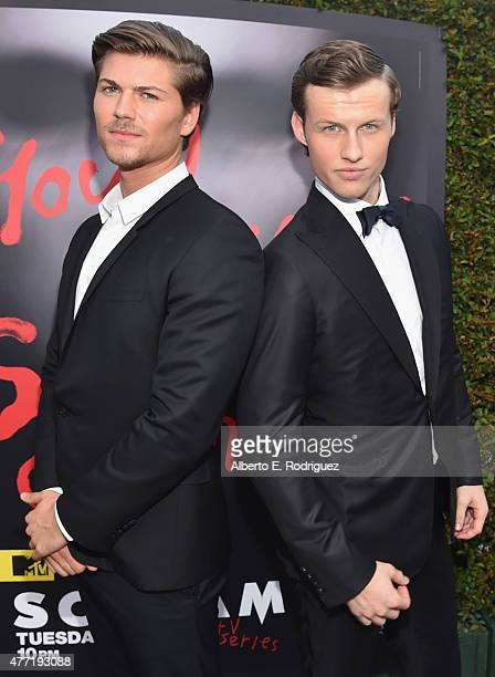 Actors Amadeus Serafini and Connor Weil attend the MTV and Dimension TV premiere of 'Scream' at the Los Angeles Film Festival on June 14 2015 in Los...