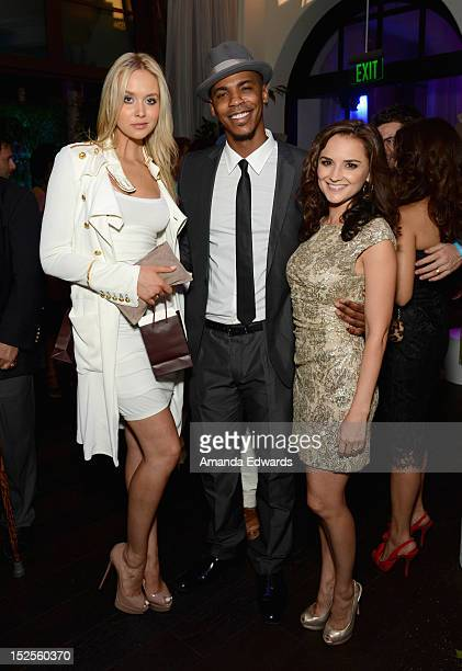Actors Amalie Wichmann Mehcad Brooks and Rachael Leigh Cook attends Variety and Women in Film PreEMMY Event presented by Saint Vintage at Scarpetta...