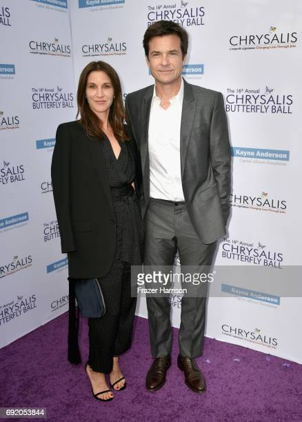 Actors Amanda Anka and Jason Bateman attend the 16th Annual Chrysalis Butterfly Ball at Private Residence on June 3 2017 in Brentwood California