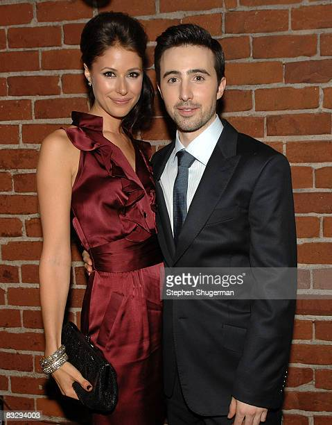 Actors Amanda Crew and Josh Zuckerman attend the after party following the premiere of Summit Entertainment's 'Sex Drive' on October 15 2008 in...