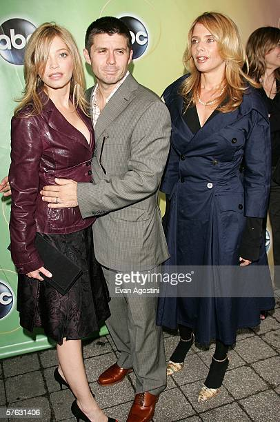 Actors Amanda Detmer Rick Gomez and Rosanna Arquette attend the ABC Television Network Upfront at Lincoln Center May 16 2006 in New York City