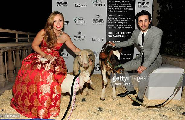Actors Amanda Fuller and Josh Zuckerman attend Heifer International's 2nd Annual 'Beyond Hunger A Place at the Table' to Help End World Hunger and...
