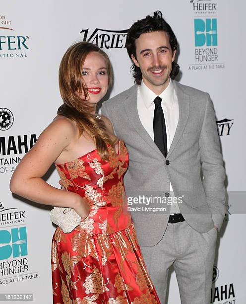 Actors Amanda Fuller and Josh Zuckerman attend Heifer International's 'Beyond Hunger A Place at the Table' gala at Montage Beverly Hills on September...