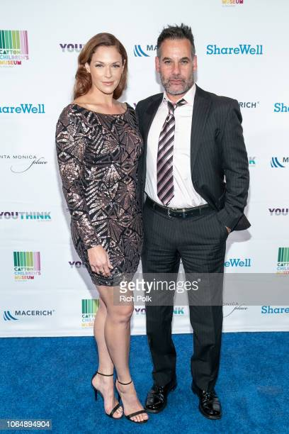 Actors Amanda Righetti and Adrian Pasdar attend the annual ShareWell/Zimmer Children's Museum Discovery Award Dinner at Skirball Cultural Center on...