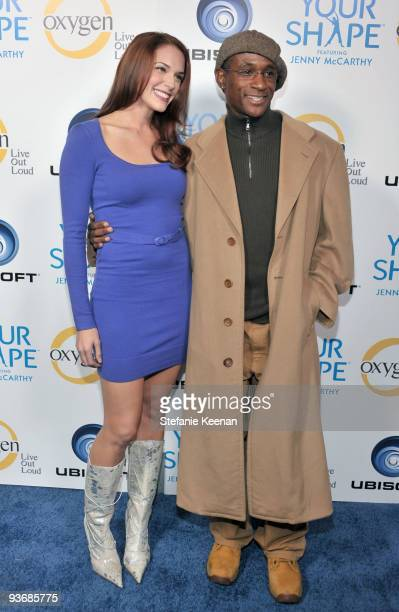 Actors Amanda Righetti and Tommy Davidson arrive at the Ubisoft and Oxygen YOUR SHAPE fitness game launch party at Hyde Lounge on December 2 2009 in...