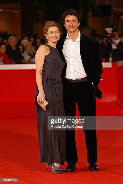 Actors Amanda Sandrelli and Blas RocaRey attend the 'Christine Cristina' Premiere during day 5 of the 4th Rome International Film Festival held at...