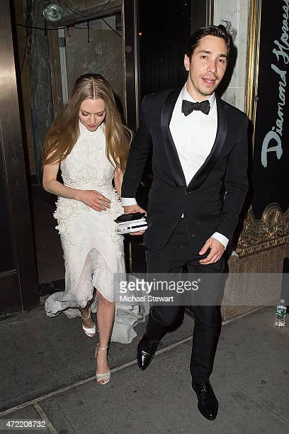 Actors Amanda Seyfried and Justin Long attend the 'China Through The Looking Glass' Costume Institute Benefit Gala after party at the Diamond...