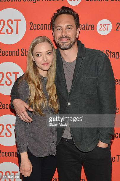 Actors Amanda Seyfried and Thomas Sadoski attend 'The Way We Get By' cast meet and greet at Second Stage Theatre on May 1 2015 in New York City