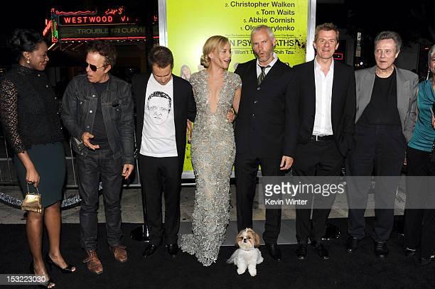 Actors Amanda Warren Tom Waits Sam Rockwell Abbie Cornish writer/director Martin McDonagh producer Graham Broadbent and actor Christopher Walken...
