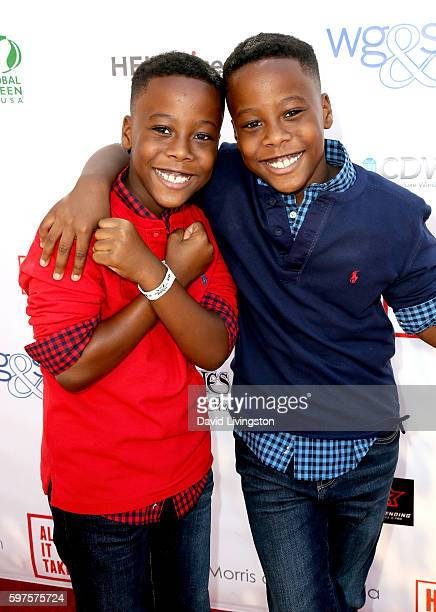 Actors Amari O'Neal and Amir O'Neal attend the 4th Annual Kailand Obasi HoopLife Fundraiser at USC Galen Center on August 28 2016 in Los Angeles...