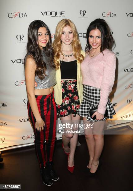 Actors Amber Montana Katherine McNamara and Ryan Newman attend the Council Of Fashion Designers Of America's 4th annual design series for Vogue...