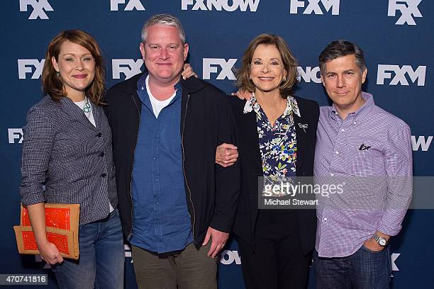 Actors Amber Nash Adam Reed Jessica Walter and Chris Parnell attends the 2015 FX Bowling Party at Lucky Strike on April 22 2015 in New York City