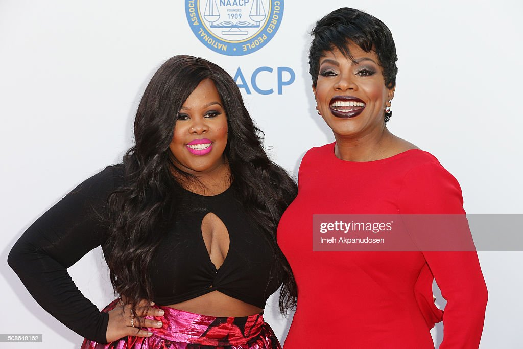 Actors Amber Riley (L) and Sheryl Lee Ralph attend the 47th NAACP Image Awards presented by TV One at Pasadena Civic Auditorium on February 5, 2016 in Pasadena, California.