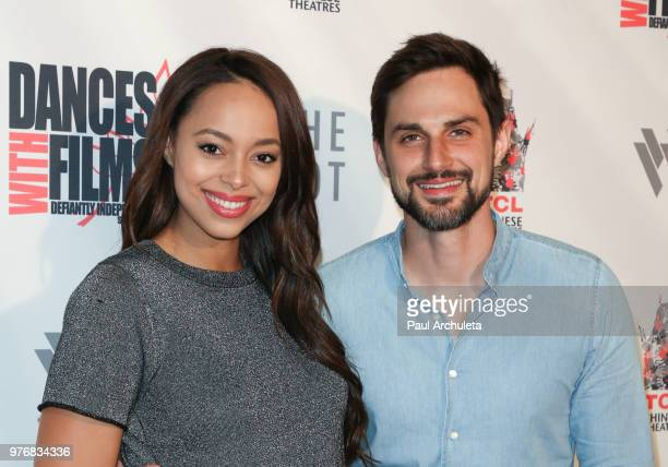 Actors Amber Stevens West and Andrew J West attend the premiere of Antiquities at the Dances With Films Festival at the TCL Chinese 6 Theatres on...