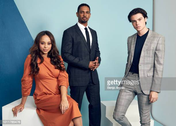 Actors Amber Stevens West Damon Wayans Jr and Felix Mallard of CBS's 'Happy Together' pose for a portrait during the 2018 Summer Television Critics...