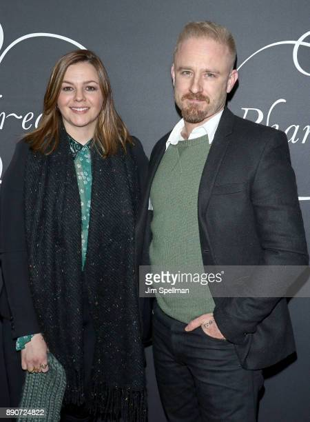 Actors Amber Tamblyn and Ben Foster attend the Phantom Thread New York premiere at Harold Pratt House on December 11 2017 in New York City