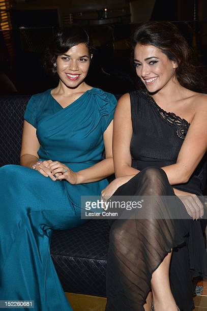 Actors America Ferrera and Natalie Martinez attend the End Of Watch Los Angeles Premiere After Party at WP24 on September 17 2012 in Los Angeles...