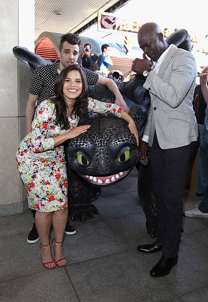 How to train your dragon 2 photocall the 67th annual cannes film actors america ferrera jay baruchel and djimon hounsou attend the how to train your ccuart Image collections