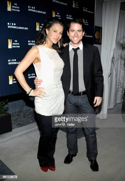 Actors America Olivo and Christian Campbell attend the National Lab Day KickOff Dinner hosted by the Creative Coalition and National Lab Day...