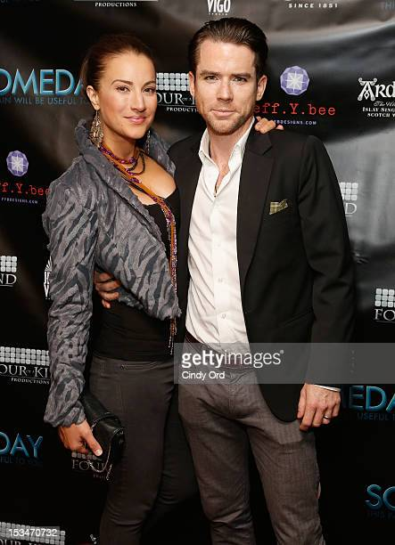 Actors America Olivo and Christian Campbell attend the 'Someday This Pain Will Be Useful To You' New York Screening at Village East Cinema on October...