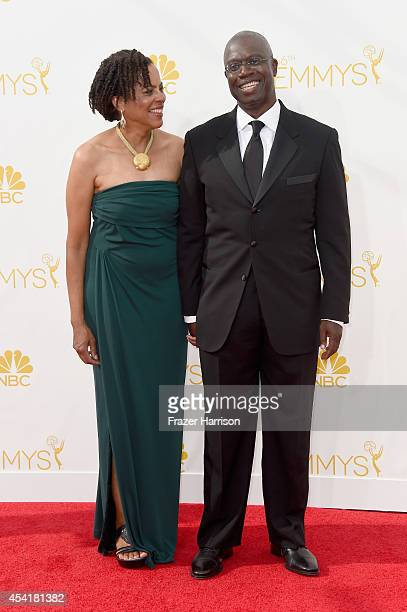 Actors Ami Brabson and Andre Braugher attend the 66th Annual Primetime Emmy Awards held at Nokia Theatre LA Live on August 25 2014 in Los Angeles...