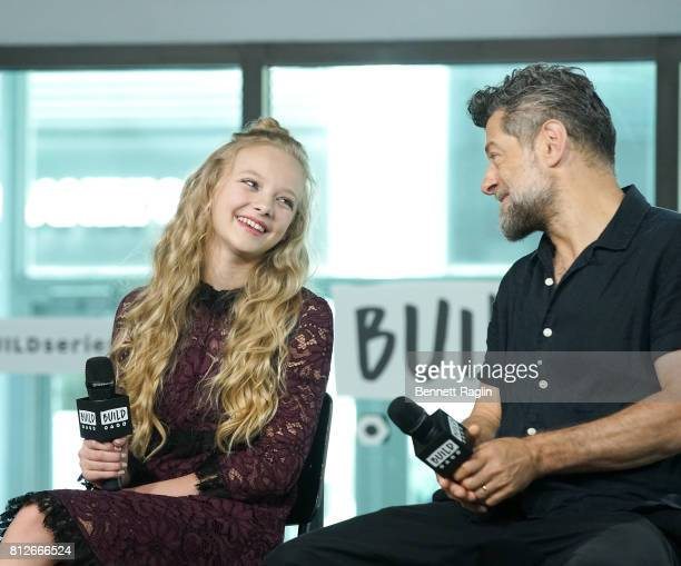 Actors Amiah Miller and Andy Serkis attend Build to discuss 'War For The Planet Of The Apes' at Build Studio on July 11 2017 in New York City