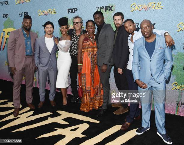 Actors Amin Joseph Filipe Valle Costa Angela Lewis Alon Moni Aboutboul Michael Hyatt Damson Idris Carter Hudson and Malcolm Mays and director John...