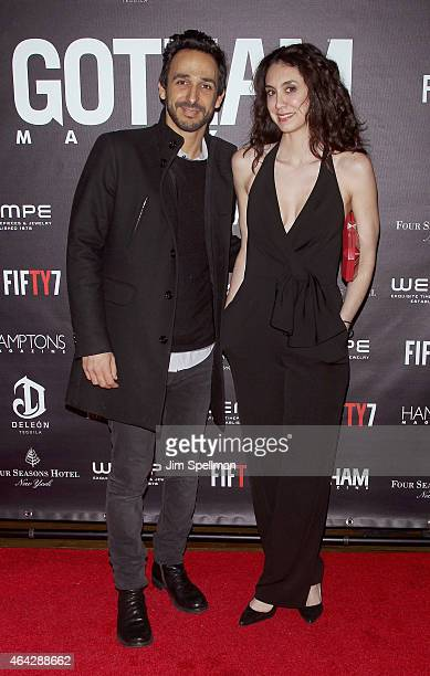 Actors Amir Arison and Mozhan Marno attend the Gotham Magazine spring issue party at Four Seasons Hotel New York on February 23 2015 in New York City