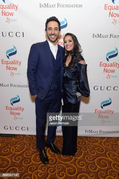 Actors Amir Arison and Sheetal Sheth attend as Equality Now celebrates 25th Anniversary at 'Make Equality Reality' Gala at Gotham Hall on October 30...