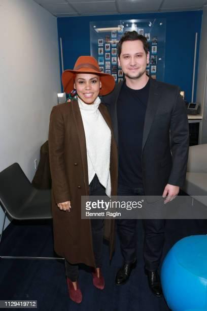 Actors Amirah Vann and Matt McGorry visit SiriusXM at SiriusXM Studios on February 13 2019 in New York City