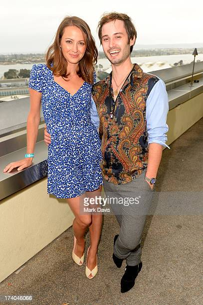 Actors Amy Acker abd Brad Bell attend BuzzFeed's ComicCon bash presented by CW Seed at San Diego Marriott Gaslamp Quarter on July 19 2013 in San...