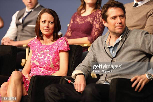Actors Amy Acker and Alexis Denisof speak onstage at the Much Ado About Much Ado Panel during the 2013 SXSW Music Film Interactive Festival at Austin...