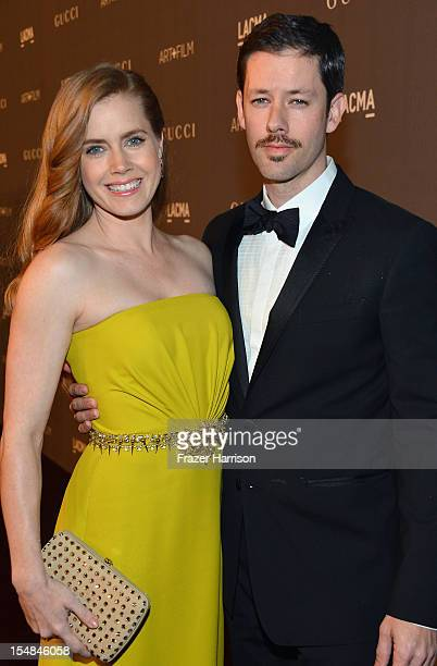 Actors Amy Adams and Darren Le Gallo arrive at LACMA 2012 Art + Film Gala Honoring Ed Ruscha and Stanley Kubrick presented by Gucci at LACMA on...