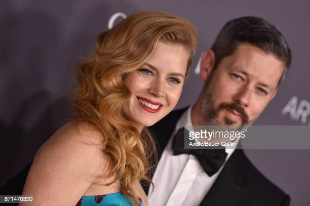 Actors Amy Adams and Darren Le Gallo arrive at the 2017 LACMA Art Film Gala at LACMA on November 4 2017 in Los Angeles California