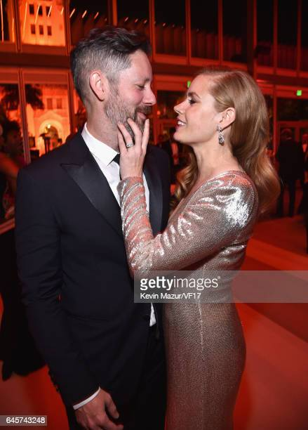 Actors Amy Adams and Darren Le Gallo attend the 2017 Vanity Fair Oscar Party hosted by Graydon Carter at Wallis Annenberg Center for the Performing...