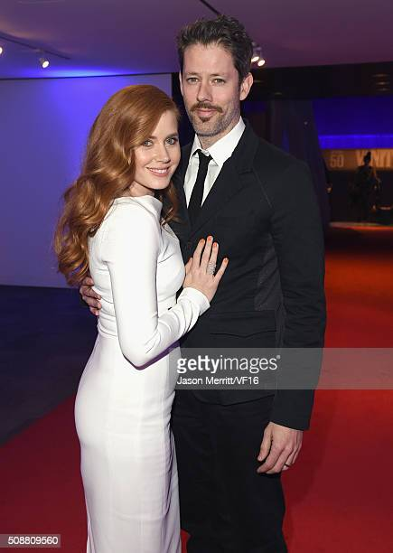 Actors Amy Adams and Darren Le Gallo attend the Vanity Fair Super Bowl Party hosted by Graydon Carter Jon Bon Jovi Honors Super Bowl 50 Host...