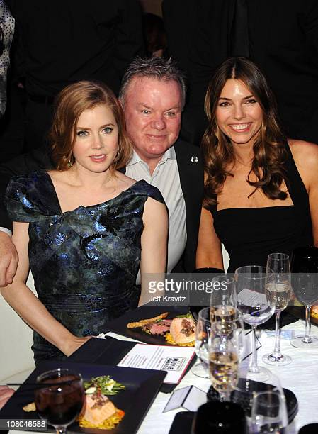 Actors Amy Adams and Jack McGee and Sibi Blazic attend the 16th Annual Critics' Choice Movie Awards at the Hollywood Palladium on January 14 2011 in...